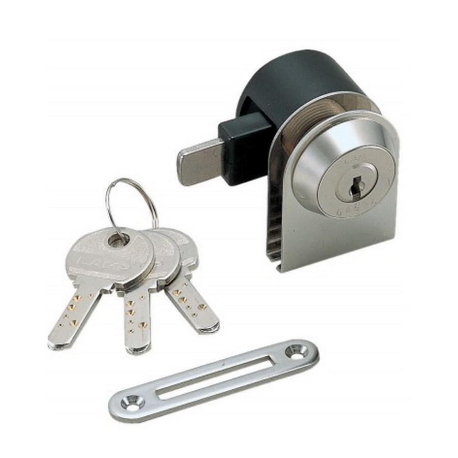 1300GL Glass Door Cam Lock Master Keyed Nickel Sugatsune 1300GLMK