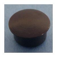 Bainbridge 3015BR-32, 10mm Bore, Plastic Cover Cap for Shelf Hole, Brown, 100-Pack