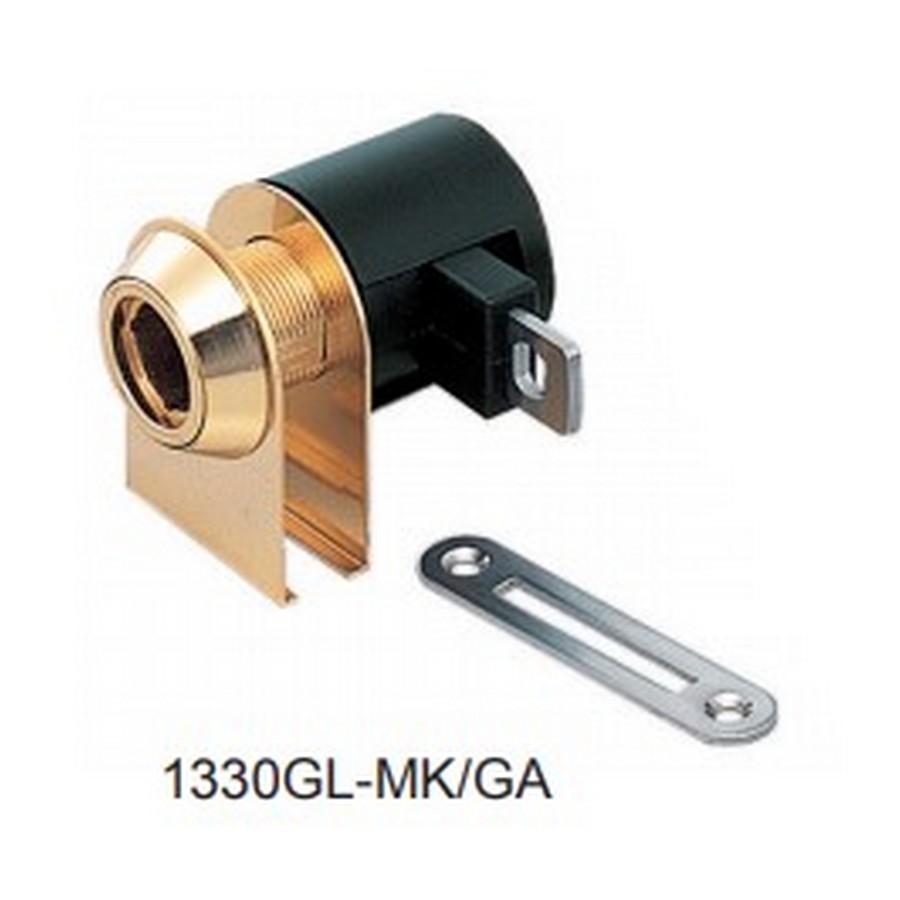 1330GL Glass Door Cam Lock Gold Master Keyed Sugatsune 1330GL-MK/GA