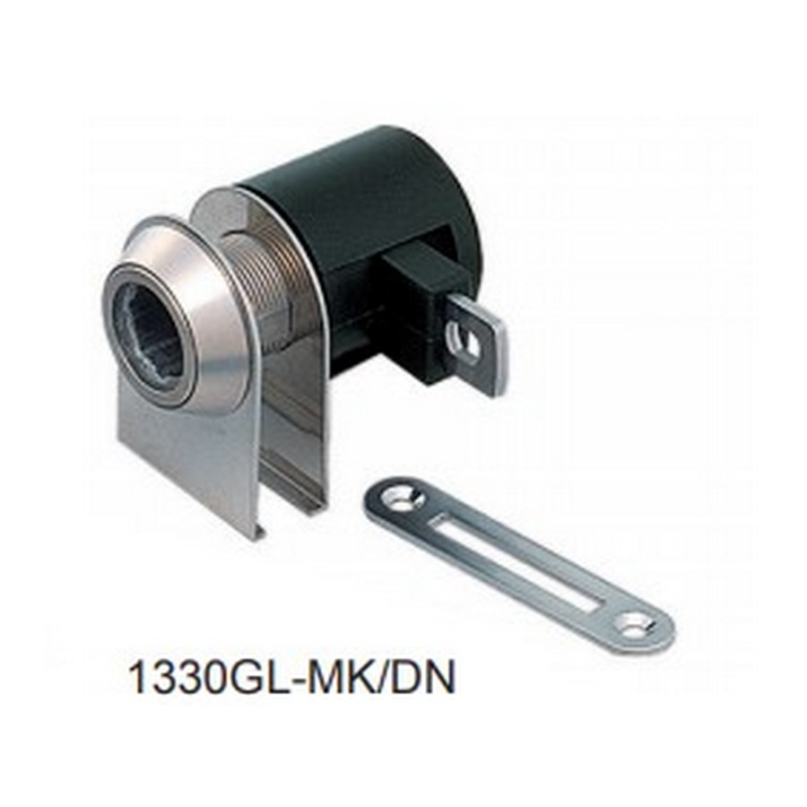 1330GL Glass Door Cam Lock Satin Nickel Master Keyed Sugatsune 1330GL-MK/DN