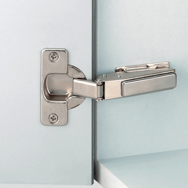 Grass 138.329.73.0815 125 Degree Nexis Hinge, Self-Close, Half Overlay, Screw-on