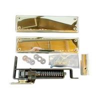 Bommer 7811-632, Spring Pivot Horizontal Type Hinge Kits, Double Acting, Medium Duty, Bright Brass