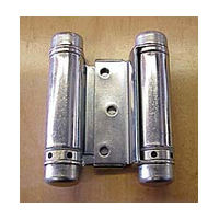 Bommer 3029-4-603, 4in Gate/Spring Hinges, Double Acting for 7/8 - 1-1/4 Thick Doors, Dull Zinc