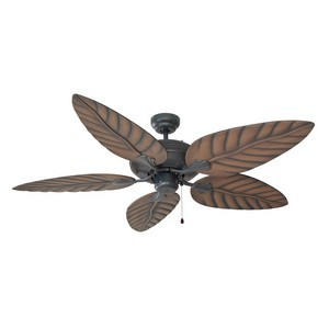 Design House 154104 Martinique 52in 5-Blade Ceiling Fan, Chestnut Blades, Oil Rubbed Bronze