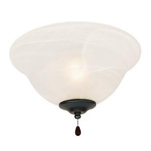 Design House 154211 3-Light Bowl Ceiling Fan Light Kit, Oil Rubbed Bronze