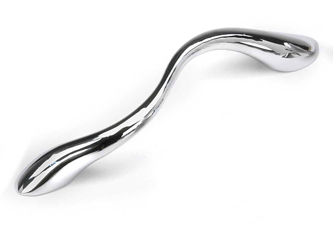 Laurey 15926 Modern Handle, Centers 3-3/4 (96mm), Polished Chrome, Pacifica Series