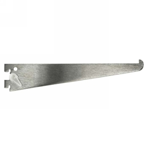 KV 160LL ANO 18, 18in 160 Series Single Slotted Shelf Bracket, with Lock Lever, Anochrome, Knape and Vogt
