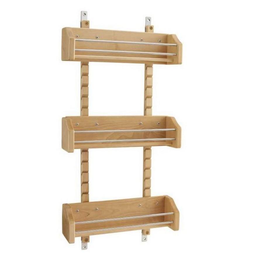 Medium Adjustable Door Mount Spice Rack Maple Rev-A-Shelf 4ASR-18