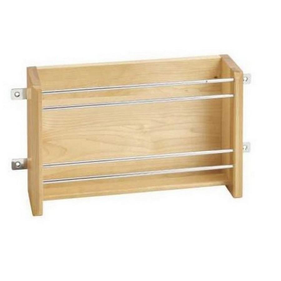 "18"" Medium Door Mount Foil Rack Maple Rev-A-Shelf 4WFR-18-1"