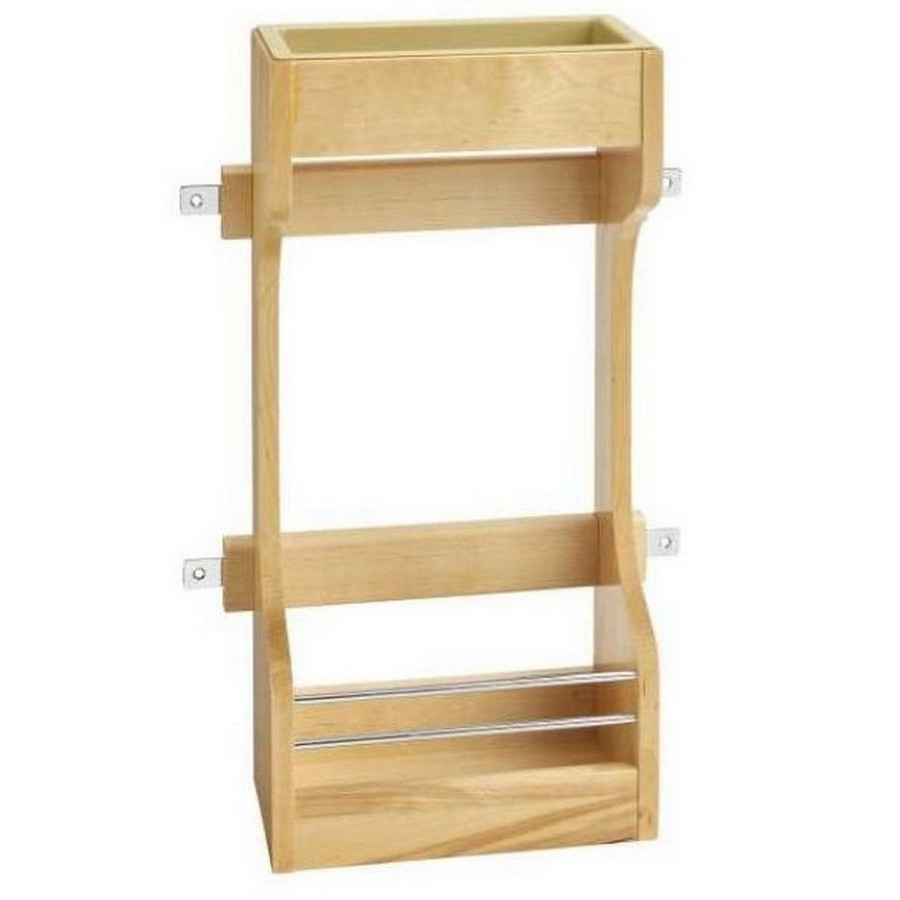 Door Mount Wood Sink Base Organizer Maple Rev-A-Shelf 4SBSU-15