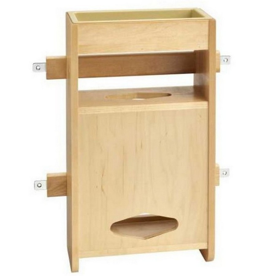 "13-7/8"" Wood Grocery Bag Holder Maple Rev-A-Shelf 4SPBD-18"
