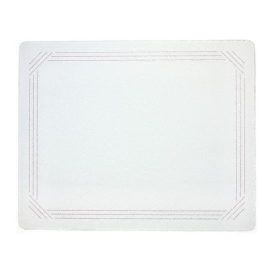 Vance 1512GB, 12in Portable Glass Cutting Board with (4) Non-Slip Rubber Feet, Vance Series, White with Gray, 12 W x 15 L