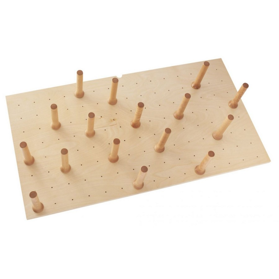 """Large 39"""" x 21"""" Wood Peg Board System with 16 Pegs Maple Rev-A-Shelf 4DPS-3921"""