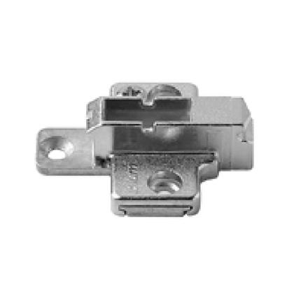 Blum 175H9160 6mm Two-piece Wing Plate, Adj Height, Wood Screws or System Screws