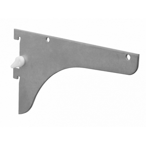 KV 186LL ANO 10, 10in 186 Series Single Slotted Shelf Bracket, with Lock Lever, Anochrome, Knape and Vogt