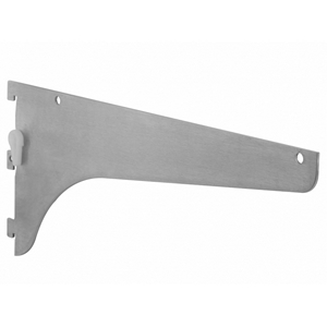 KV 187LL ANO 12, 12in 187 Series Shelf Bracket, with Lock Lever, Anochrome, Knape and Vogt