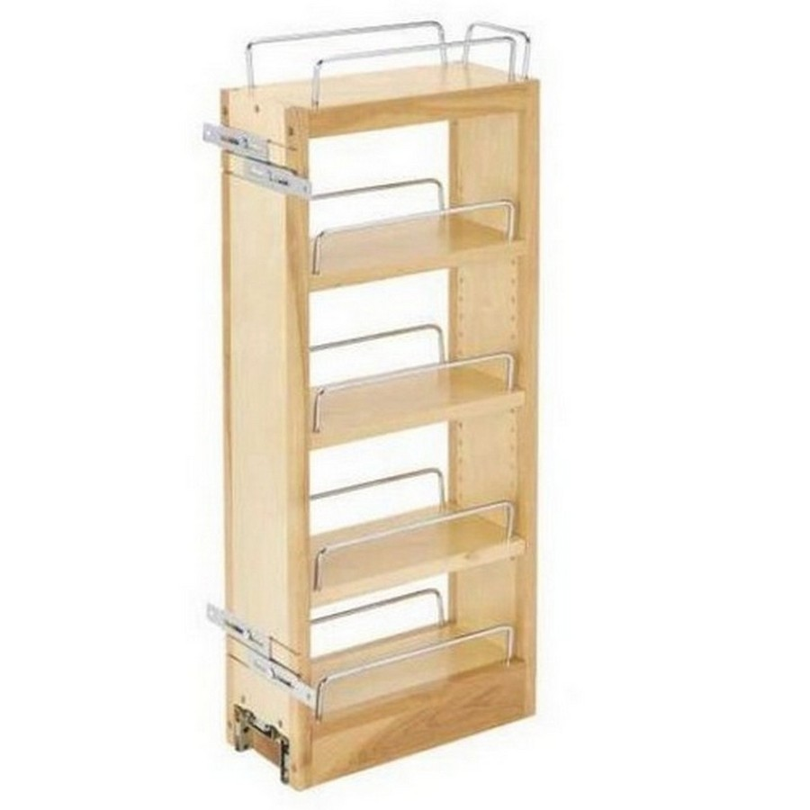 "5"" Wood Pullout Wall Organizer Rev-A-Shelf 448-WC-5C"