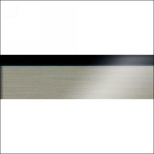 "Edgebanding PVC 3D19R6 Black Aluminum, 15/16"" X 1mm, 492 LF/Roll, Woodtape 3D19R6-1440-27"