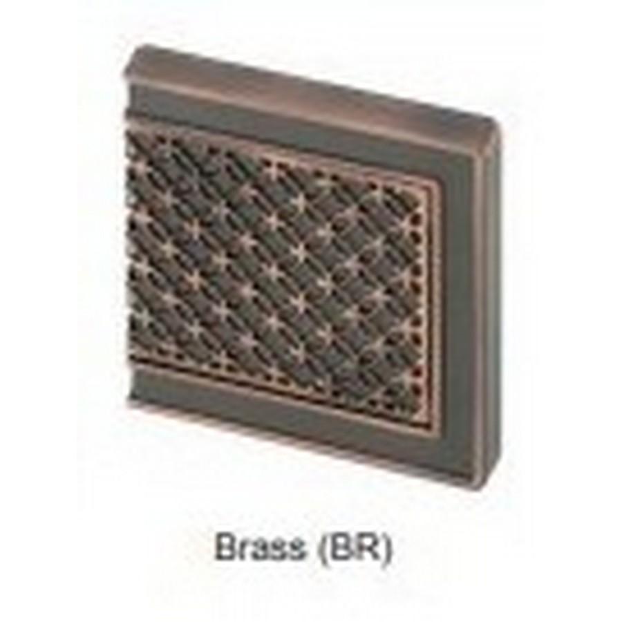 Glass Faceplate For J95 Hinge Antique Brass Sugatsune GH-J95FP-Q1-BR