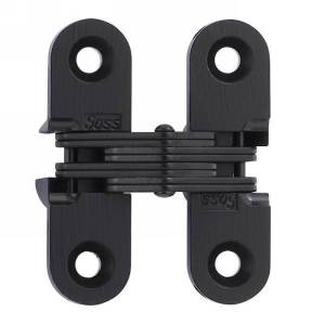 "SOSS #203, 1-3/4"" Invisible Hinge, Black, 203CUS19"