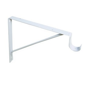 Design House 205799 Shelf Rod Bracket 11in White