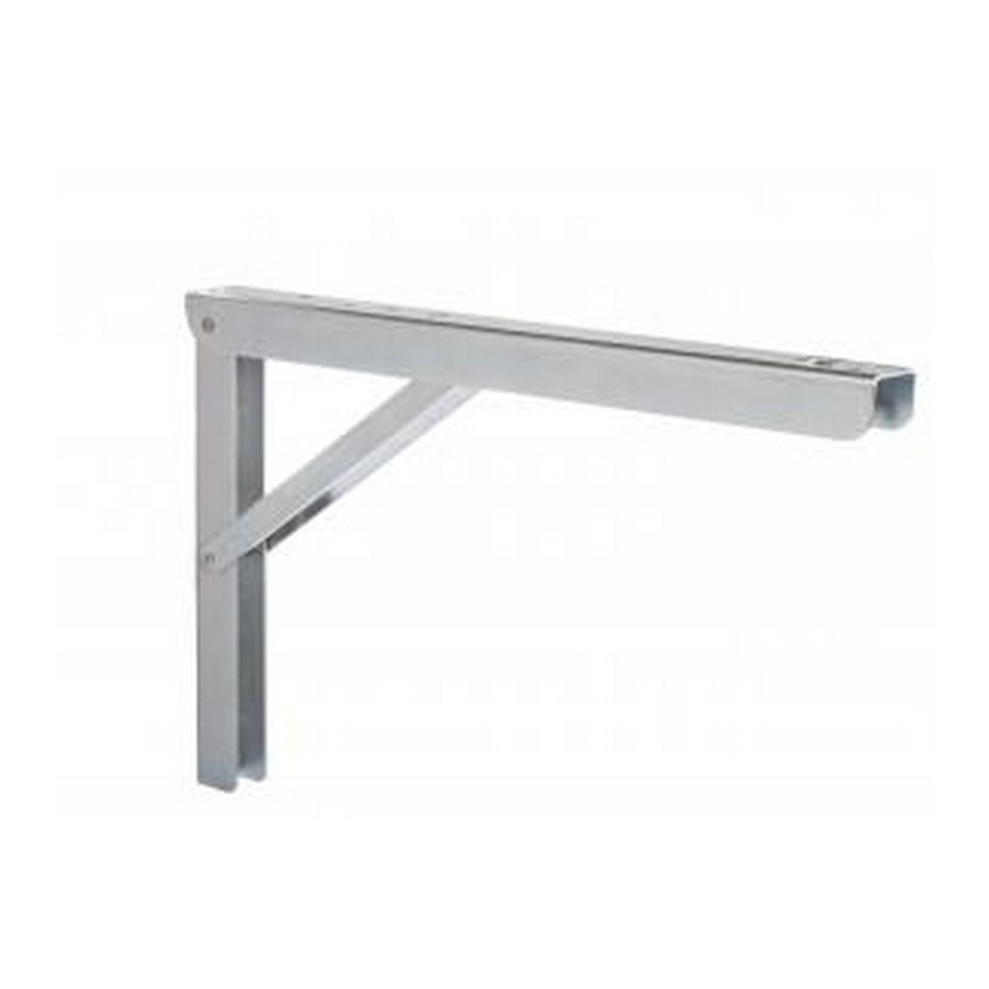 "Folding Shelf Bracket 16""x 9-5/64"" Zinc Knape and Vogt 206 ZC 16"
