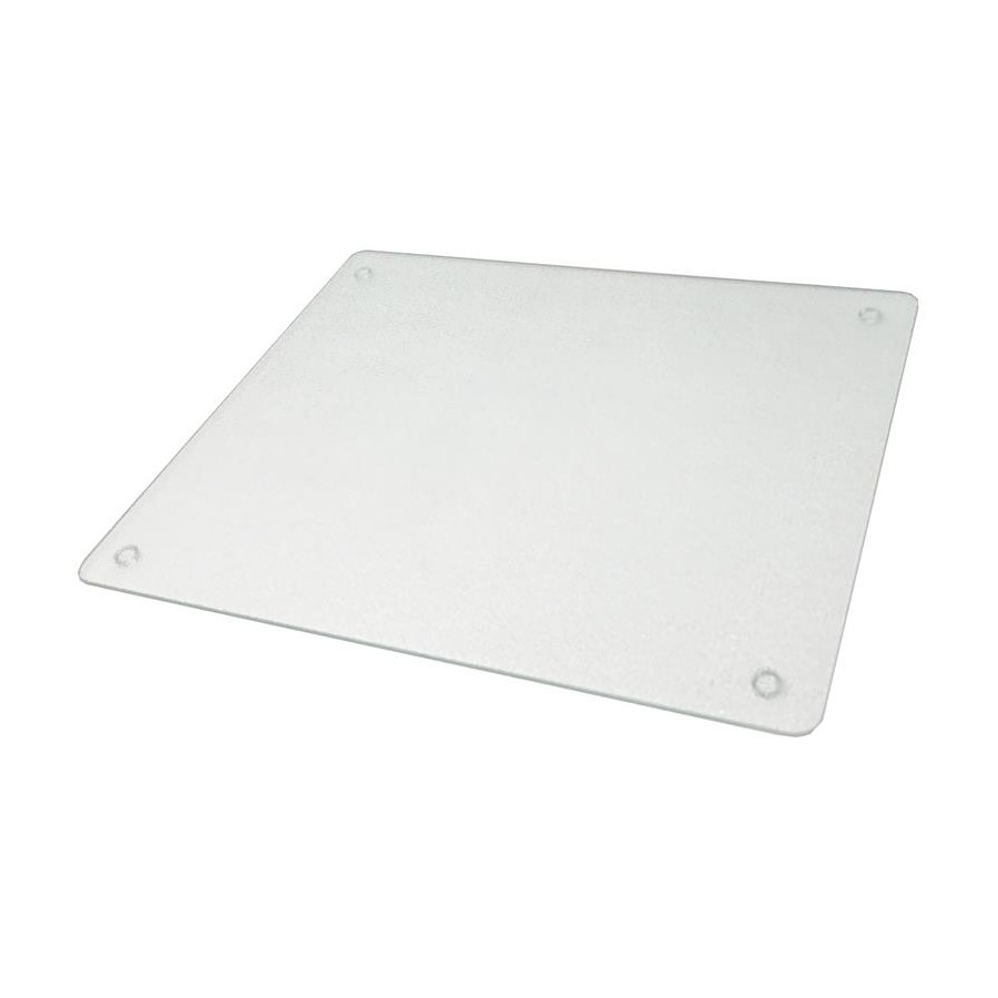 Vance 82016C, 16in Portable Glass Cutting Board with (4) Non-Slip Rubber Feet, Vance Series, Clear, 16 W x 20 L