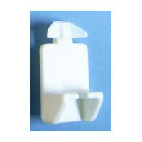 Bainbridge 3228WH-62 Bulk-1000, 5mm Bore, Plastic Shelf Support with Locking Dual Peg for Use with 1in Shelves, White