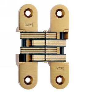 """SOSS #216, 4-5/8"""" Invisible Hinge, Bright Brass, 216US3"""