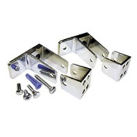 Jacknob 15090, Toilet Partition Zamak Panel Bracket Kit, One Ear, Designed for 7/8 Thick Panels, Chrome