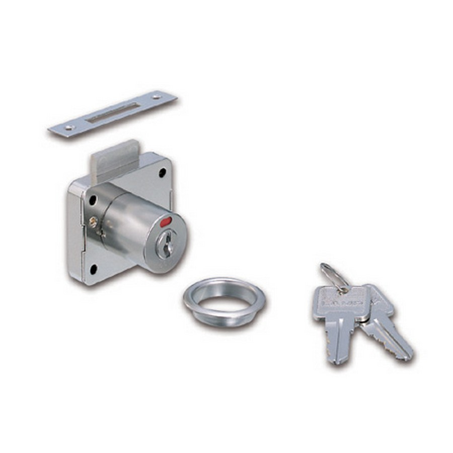 "2200 Cabinet Lock w/ Indicator 7/8"" Dia x 15/16"" Long Nickel Sugatsune 2200-24"