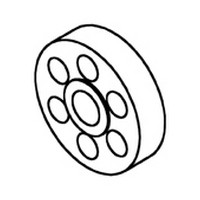 Bainbridge 3612-62 Bulk-1000, 1/4 Drawer Slide Spacer, Almond