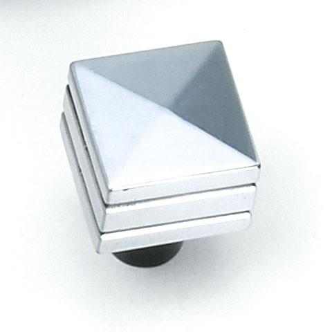 "Kama Square Knob 7/8"" Long  Antique Silver Laurey 23260"