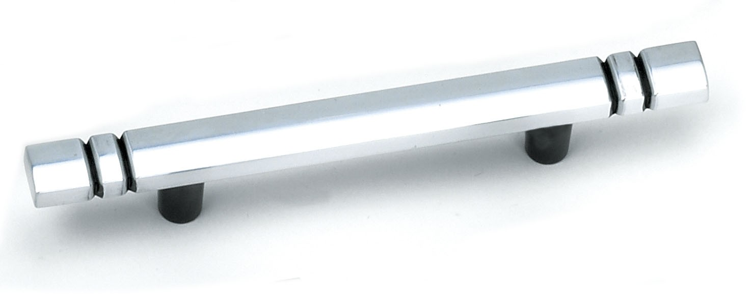 """Laurey 23360 Kama Bar Pull 3"""" (76mm) Centers, Antique Silver, 4"""" (102mm) Long"""