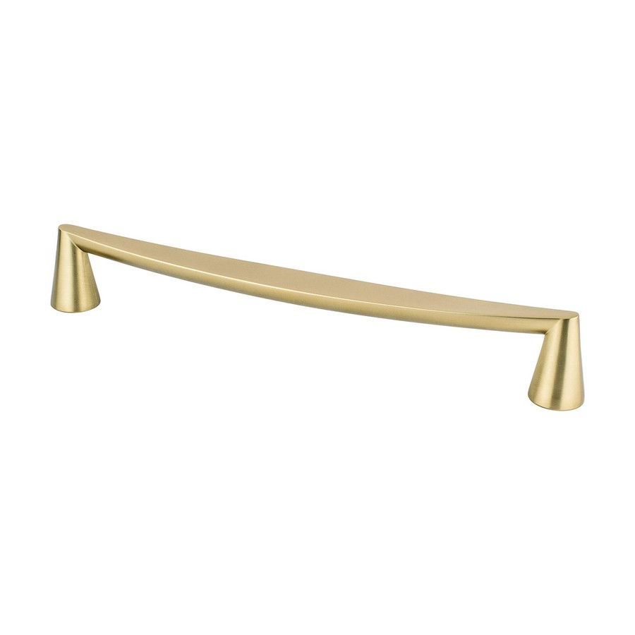 Domestic Bliss Pull 224mm Center to Center Modern Brushed Gold Berenson 2355-1MDB-P