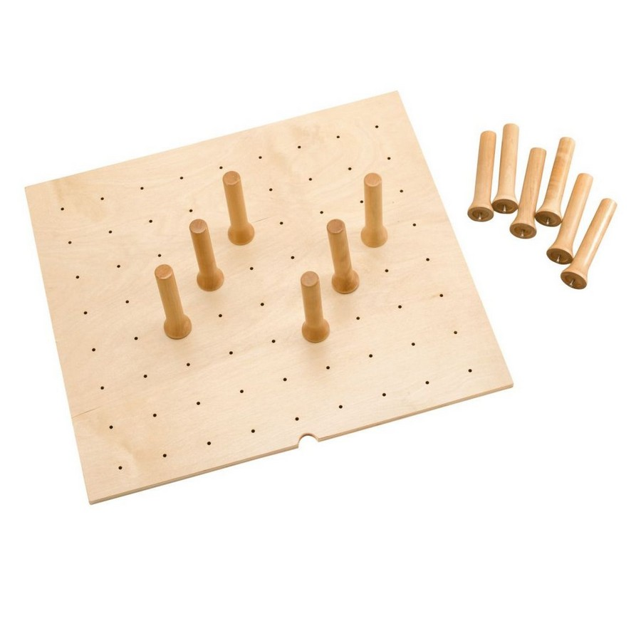 "Small 24"" x 21"" Wood Peg Board System with 9 Pegs Maple Rev-A-Shelf 4DPS-2421"
