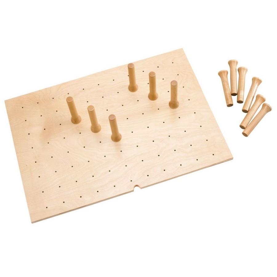 """Medium 30"""" x 21"""" Wood Peg Board System with 12 Pegs Maple Rev-A-Shelf 4DPS-3021"""