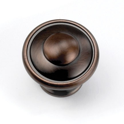 """Windsor Knob 1-1/8"""" Dia Venetian Bronze Laurey 24177"""