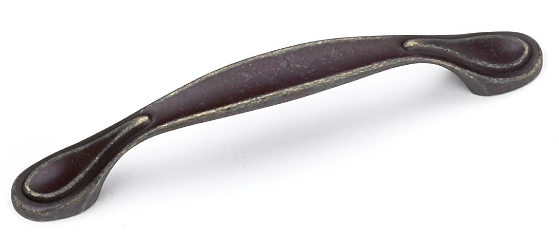 Laurey 24278 Footed Handle, Centers 3-3/4 (96mm), Weathered Antique Bronze, Windsor Series