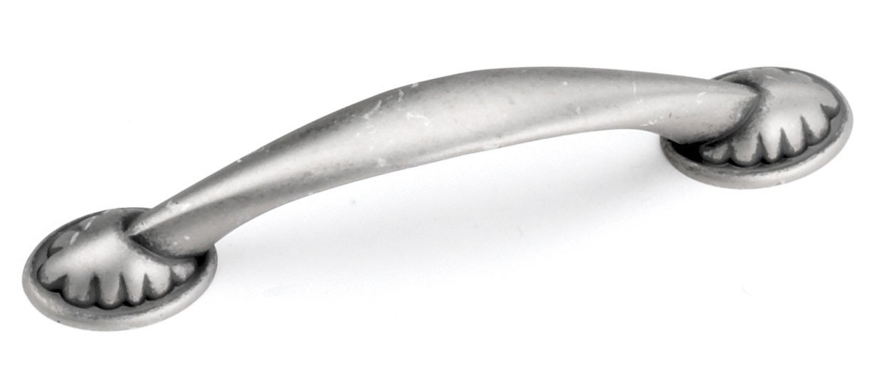 Laurey 24406 Footed Handle, Centers 3-3/4 (96mm), Antique Pewter, Windsor Series