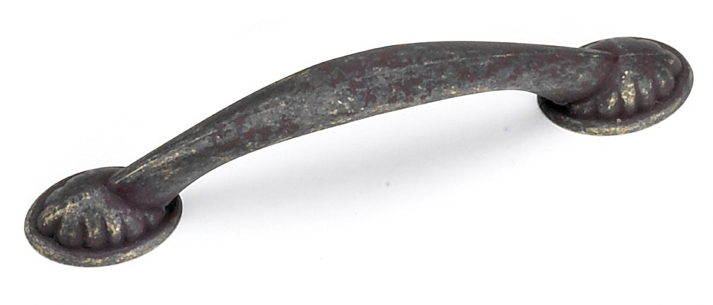 Laurey 24478 Footed Handle, Centers 3-3/4 (96mm), Weathered Antique, Windsor Series