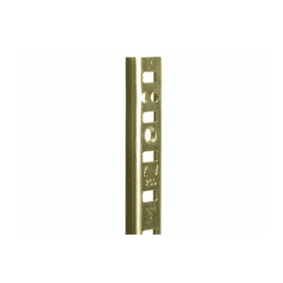 KV 255 BR 24, 24in 255 Series Pilaster, Surface or Flush Mount, Brass, Knape and Vogt