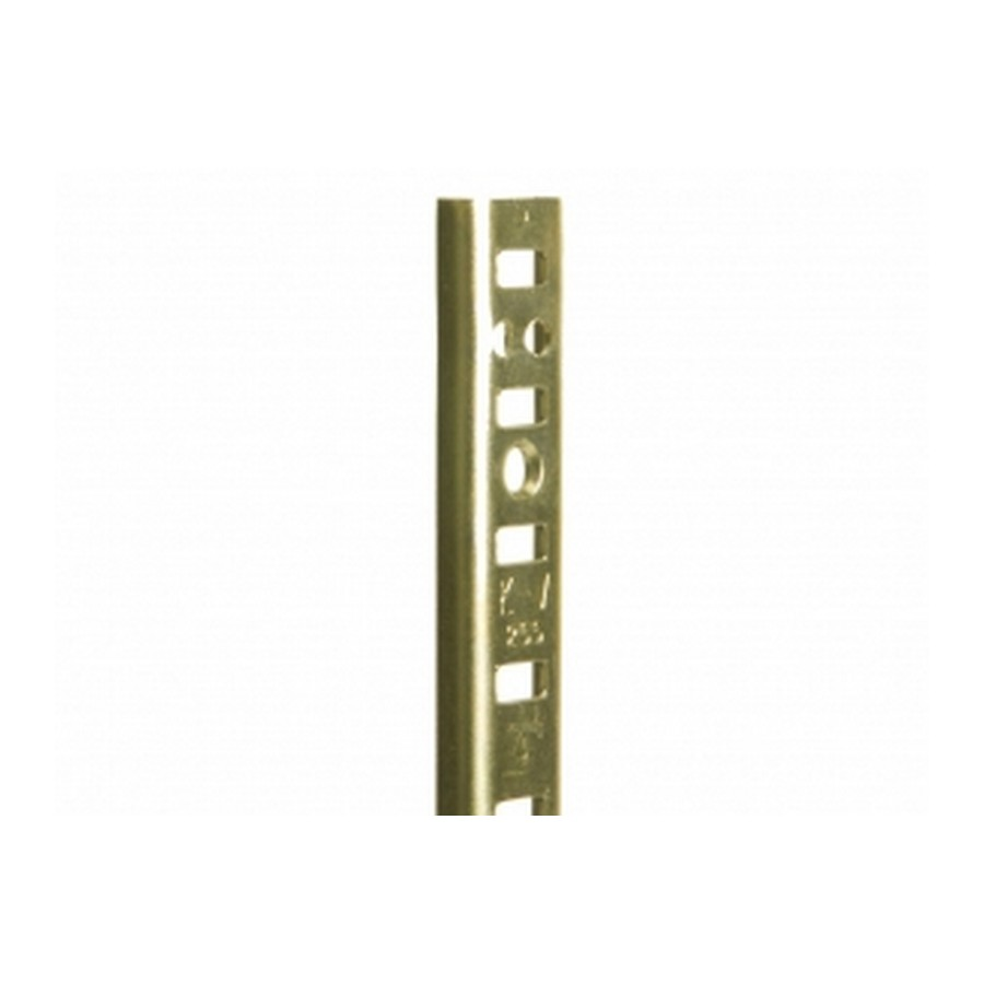 KV 255 BR 18, 18in 255 Series Pilaster, Surface or Flush Mount, Brass, Knape and Vogt