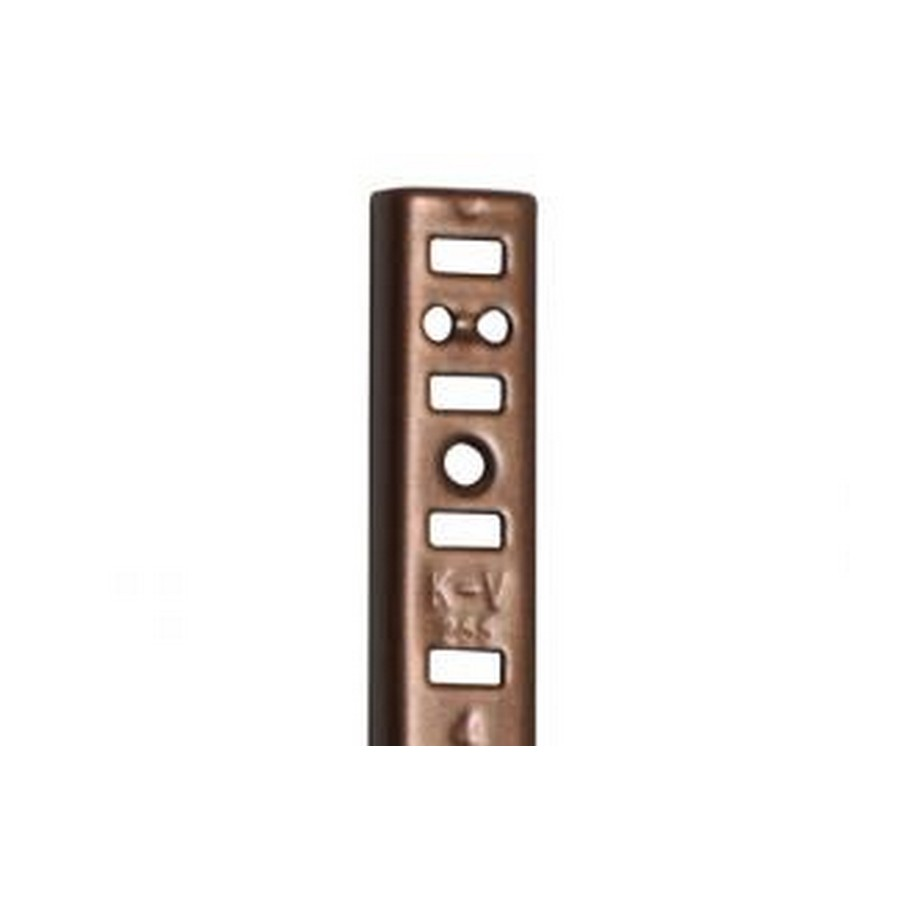 KV 255AL WAL 18, 18in 255 Series Pilaster, Surface or Flush Mount, Walnut, Knape and Vogt