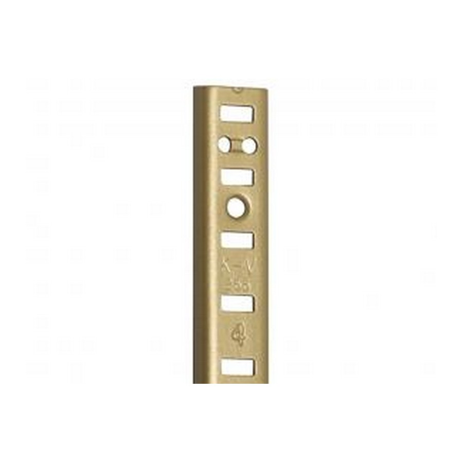 KV 255AL BR 12, 12in 255 Series Pilaster, Surface or Flush Mount, Brass Aluminum, Knape and Vogt