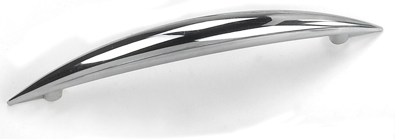 Laurey 25826 Modern Handle, Centers 3-3/4 (96mm), Polished Chrome, Delano