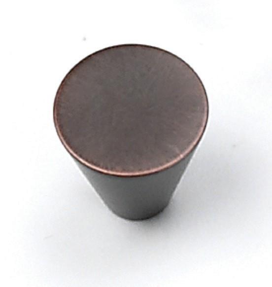 "Delano Knob 3/4"" Dia Venetian Bronze Laurey 26077"