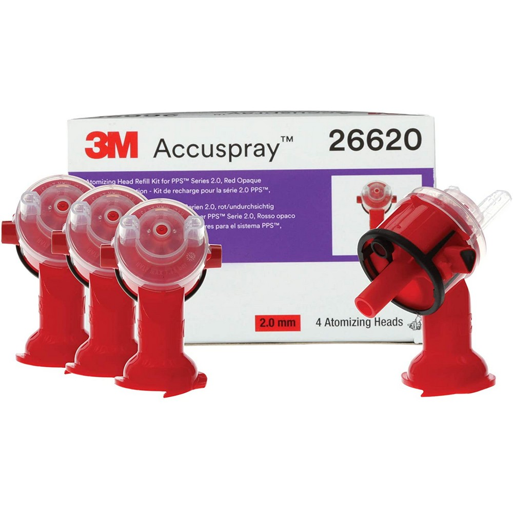 Accuspray One Version 2 Atomizing Red Replacement Head Kit 2.0mm Orifice 3M 51131266209