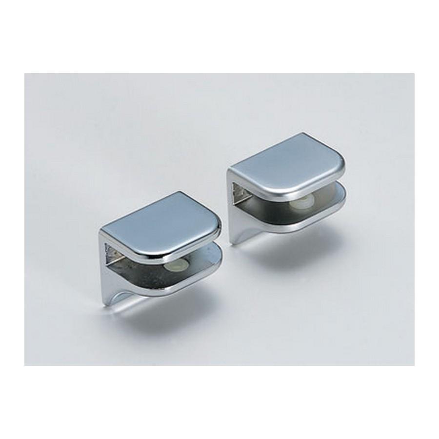 No Screw Glass Shelf Support Matte Chrome Sugatsune 2885ZN1
