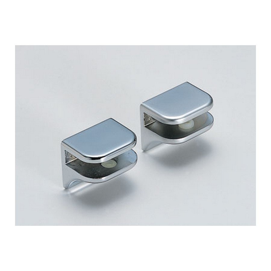 No Screw Glass Shelf Support Polished Chrome Sugatsune 2885ZN5